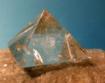 Clear Quartz Crystal Pyramid Polished Diamantina Metaphysical Brazil  Reiki Home Decor Sacred Geometry OOAK