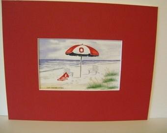 Ohio Umbrella Beach Scene