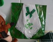 Handkerchief, St Patricks Day, green shamrock