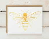 Bee Cards, Bee Stationary, Bee Paper Goods, Bee Gift, Bee Illustration, Stationary, Stationery, Note Cards, Folded Cards, Notecards,