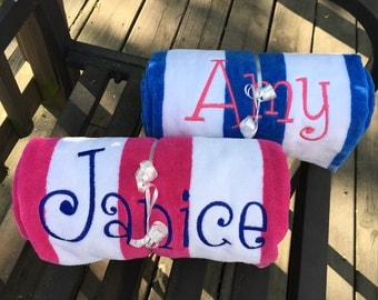Personalized Striped Beach Towels