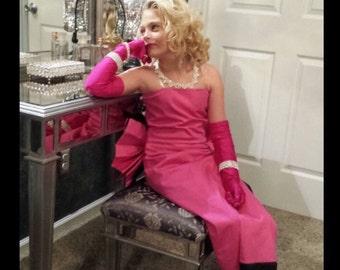 Marilyn Monroe Pink dress  actress costume red carpet