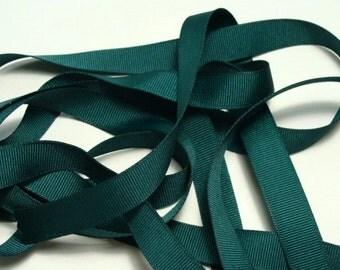 "5/8"" Grosgrain Ribbon - Hunter Green"