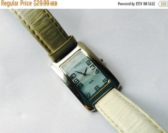 Carolee Swiss watch Authentic rectangular wrist watch pearl dial