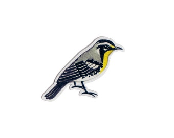 Yellow-throated Warbler Bird Magnet / Nature Art / Refrigerator Magnet / Office Magnet / Party Favor / Small Gift
