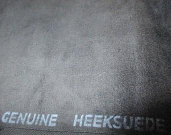 1 1/4 yd rare Vintage Genuine Heeksuede black faux suede