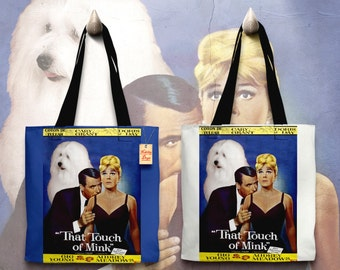 Coton de Tulear Art Tote Bag - That Touch of Mink Movie Poster NEW Collection by Nobility Dogs