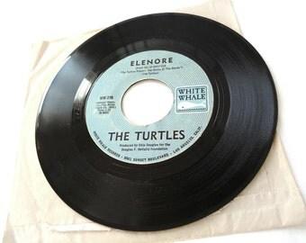 The Turtles Elenore Surfer Dan on White Whale WW 276 Vinyl 45 rpm Record 45rpm Surf Garage Music Genre 1968 WW276