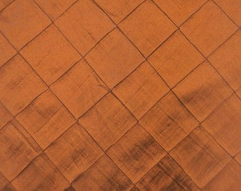 "Copper Pintuck Diamond Taffeta 4"" fabric per yard 55"" wide 25 yards"