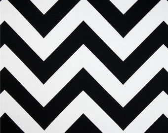 CLEARANCE Modern Accent Pillows- Black and White Zippy Pillow Cover- 16x16- Hidden Zipper Closure- Cushion Cover- Chevron Throw