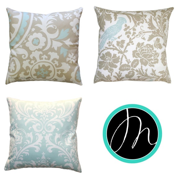 Powder Blue Decorative Pillows : Decorative Throw Pillows Powder Blue Euro by ModernalityHomeDecor