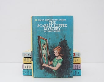 Vintage Nancy Drew Book, The Scarlet Slipper Mystery by Carolyn Keene