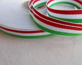 "Flag Ribbon Italian Flag 3/8"" width 5 yards"