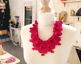 Big Red Heart Necklace, Statement Necklace, Large red necklace, Statement piece, Bold Jewelry