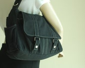 NEW YEAR SALE 30% - Pico2 in Black (Water Resistant) Purse / Laptop / Shoulder bag / Messenger Bag / Women / Handbag / Wallet / Diaper Bag /