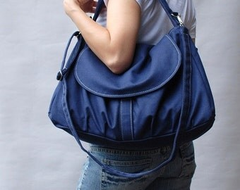 CHRISTMAS in July 30% + Mysterious Gift - Fortuner in Navy Blue / Purse / Laptop / Shoulder bag / Handbag / Purse / Hobo / Gift for her