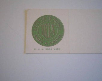 Vintage M.I.A.  LDS/Mormon young womens group Book Mark
