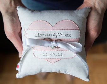 Wedding Ring Cushion - Ring Bearer Pillow - Personalized Wedding Ring Cushion -Ring Holder - Ring Cushion