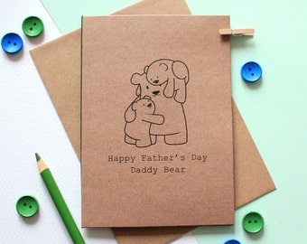 Daddy Bear Father's Day Card - Card for Dad