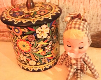 Vintage colorful candy tin