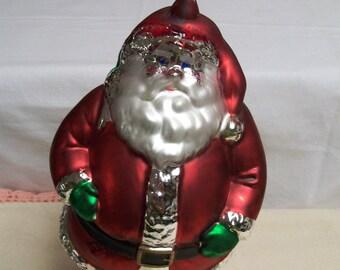 Mercury Glass Santa Claus Ornament Department 56 Jumbo Size Original Box 9 Inch Santa Claus Christmas Tree Ornament