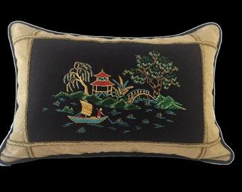 Asian Pagoda Pillow