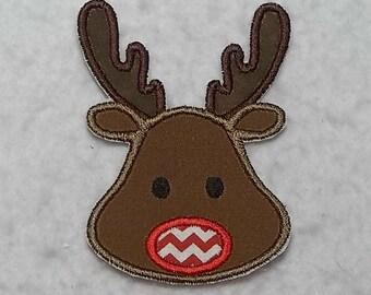 Reindeer (small) Tutu & Shirt Supplies fabric iron on Applique Patch 7363