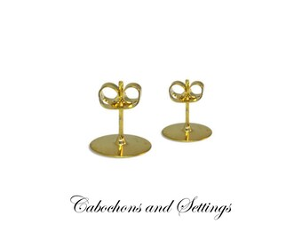 100 X 10MM Earring Studs Ear Post with Clutch.     Gold Colour - AUSTRALIA