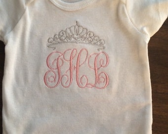 Personalized Princess Initial Topped with Tiera