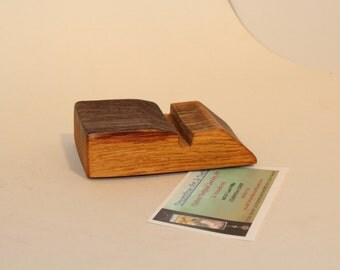 Wine barrel stave business card holder. Made from reclaimed wood. Office gift, Birthday gift. Desk decor.