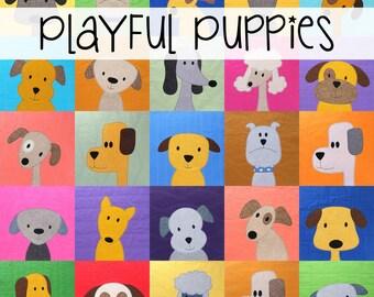 Puppy Dog Quilt Applique Pattern PDF