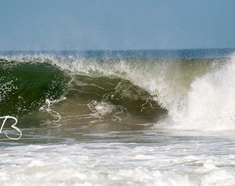 Ocean Wave New Jersey Shore Photo Digital Download