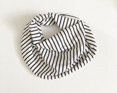 Baby scarf / baby drooler scarf / toddler scarf / drooler bib / drooler scarf  / girl baby scarf / guguberry / mini stripe