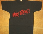 Vintage 1980s Return of The Living Dead Movie T-Shirt ZOMBIE Deadstock More Brains Screen Stars