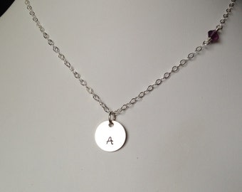 Personalized Mother's Necklace, Baby's Initial Necklace, Mother's Day Jewelry