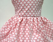 Hearts on Pink, Valentine's Day Sleeveless Dress for Your American Girl Doll