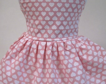 Hearts on Pink, Sleeveless Dress for Your American Girl Doll