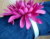 Burgundy reflective flower ankle corsage