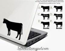 Heifer Decal Vinyl Sticker - Silhouette My Pet Design:OA-COW02
