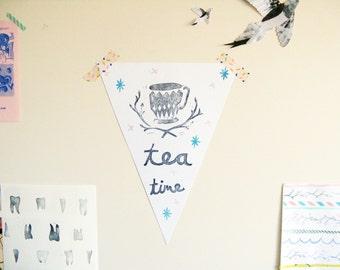 Pennant Flag, Tea Time wall decor