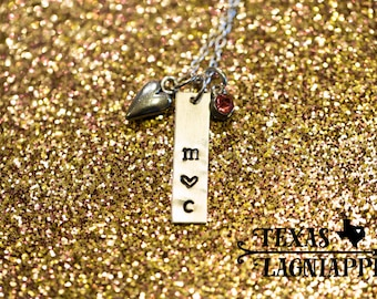 Hand Stamped Anniversary Necklace