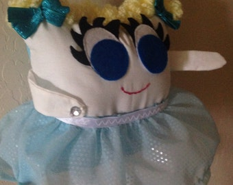 Tooth Fairy Pillow Blue Ballet Dancer