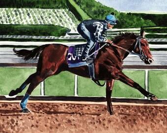 American Pharoah Art Thoroughbred Horse Art Horse Race Print Kentucky Derby Art Kentucky Derby Party Derby Hat Preakness Churchill Downs Art