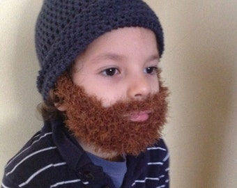 Handmade Crochet Santa Claus Beard hat PATTERN, Toturial pdf file, Irish beard, beard hat instructions, kids beard hat pattern, crochet