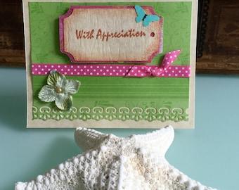 Handmade With Appreciation Notecard Ready to Go