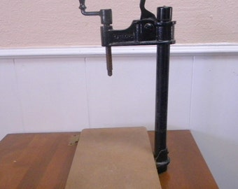 Gaylord book press cast iron early 20th century vintage industrial decor