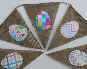 Colorful Geometric Easter Egg Bunting/Banner/Pennant