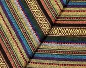 Thai Woven Fabric Tribal Fabric Native Cotton Fabric by the yard Ethnic fabric Craft fabric Craft Supplies Woven Textile 1/2 yard (WF40)