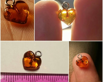 Baltic Amber Beads Supply Pendant supply Heart Pendant 20 units