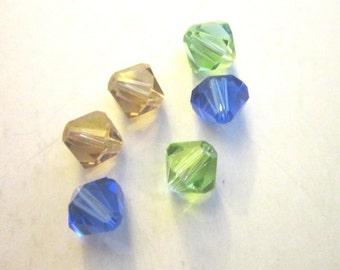 SALE Swarovski Crystal bicone 8mm 10 beads